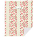 Personalized Shabby Chic Floral Blanket