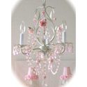 Sage Rose 3 Light Chandelier