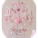 Blossoming Pink Chandelier