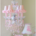 Pink Rose Shades Chandelier