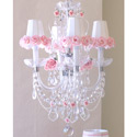 Porcelain Roses 4 Light Chandelier