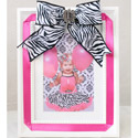 Zebra Bow Picture Frame