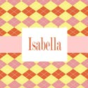 Argyle Personalized Girls Wall Art