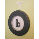 Boys Round Hanging Monogram