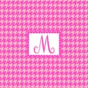 Houndstooth Initial Wall Art