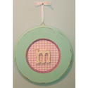 Girls Round Hanging Monogram