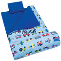 Personalized Trains Planes Trucks Sleeping Bag