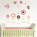 Butterfly Garden Wall Art Decal
