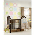 Dots, Concentric Dots and Stripes Wall Decal