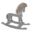 Personalized Heirloom Grey Rocking Horse