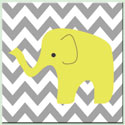 Chevron Modern Elephant Canvas Art