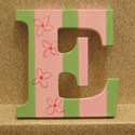 Pink n' Lime Striped Floral Wall Letters
