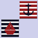 Hand Painted Nautical Canvas Wall Art Set