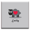 Little Lamb Canvas Wall Art