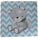 Hand Painted Chevron Teddy Bear Wall Art