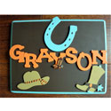 Wild West Cowboy Name Plaque