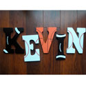 Kevin's Let's Play Ball Wall Letters