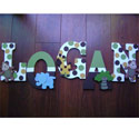 Logan's Safari Fun Wall Letters