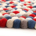 Stars and Stripes Felt Rug