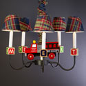 Firetruck and Blocks Chandelier