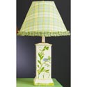 Blue Bird & Vine Square Column Lamp