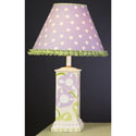 Lavender and Green Mod Flower Lamp