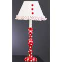 Red and White Polka Dot Lamp