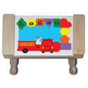 Personalized Fire Truck Puzzle Stool